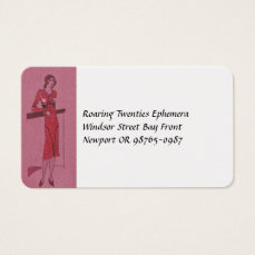 Fashionista Flapper Illustration Business Card