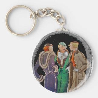 Fashionista Friends Basic Round Button Keychain