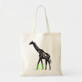 Fashionista Giraffe Budget Tote Bag