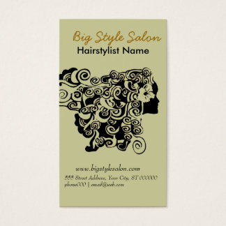 Fashionista Hair Salon and Spa Business Card