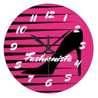 Fashionista High Heel Shoes Pumps Fashion Chic Large Clock