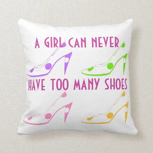 Fashionista High Heel Shoes Throw Pillow
