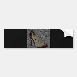 Fashionista High Heels Bumper Sticker