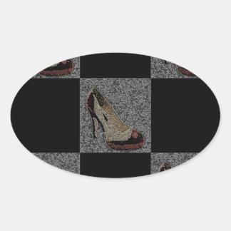 Fashionista High Heels Oval Sticker