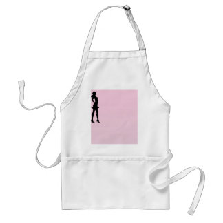 Fashionista in Pink and Grey Aprons