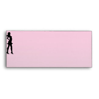 Fashionista in Pink and Grey Envelope