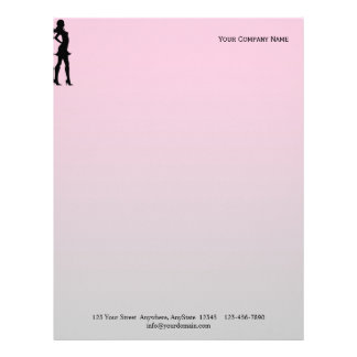 Fashionista in Pink and Grey Letterhead