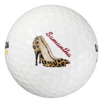 Fashionista Jaguar Stiletto Heal Custom Golf Balls
