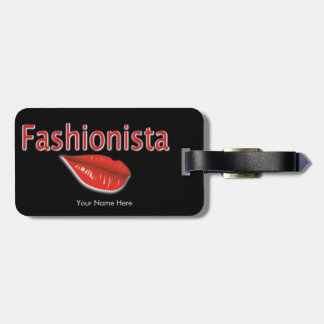 Fashionista Luggage Tag w/an area to put your name