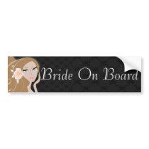 fashionista maid of honor bride bridesmaid bumper sticker