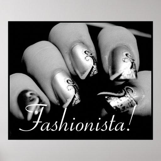 Fashionista Nail Art Posters