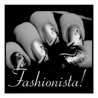Fashionista Nail Art Poster