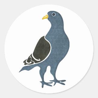 Fashionista Pigeon Classic Round Sticker