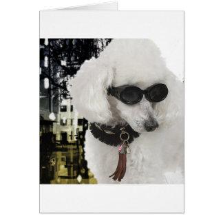 Fashionista Poodle Shopping Card