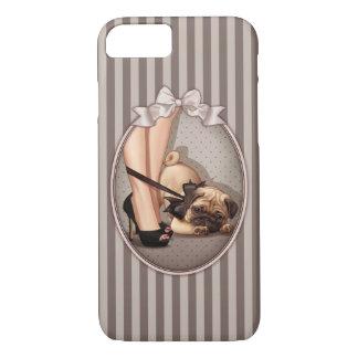 Fashionista & Pug Puppy iPhone 7 Case