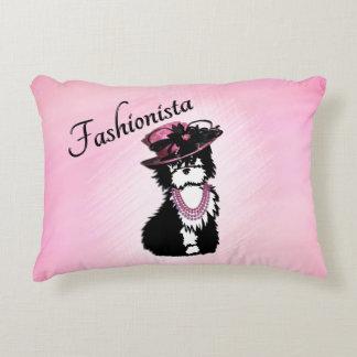 Fashionista Puppy Dog Accent Pillow
