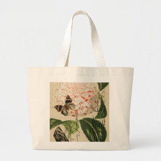 fashionista stiletto floral french botanical art large tote bag