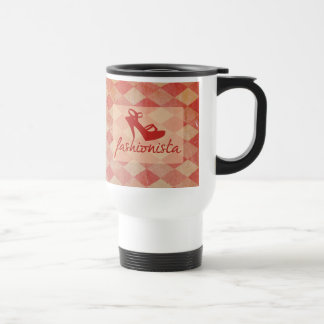 Fashionista Vintage Pattern Travel Mug