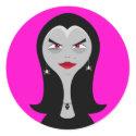 Fashionista Witch Sticker sticker