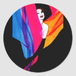 FashionMagCover-RGruauTextiles1 Classic Round Sticker