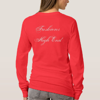 Fashions High End Daily Make-up Routine In Red T-Shirt