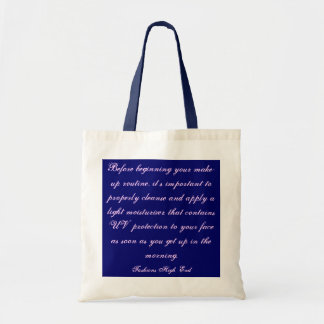 Fashions High End Daily Make-up Routine Natural I Tote Bag
