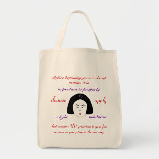 Fashions High End Daily Make-up Routine Organic Tote Bag