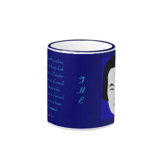 Fashions High End Daily Oblong Face Shape Ringer Coffee Mug