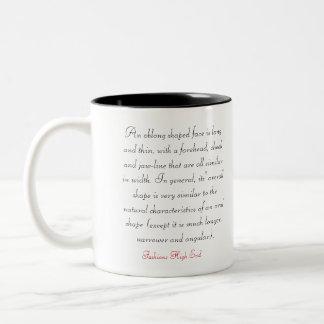 Fashions High End Daily Oblong Face Shape Two-Tone Coffee Mug