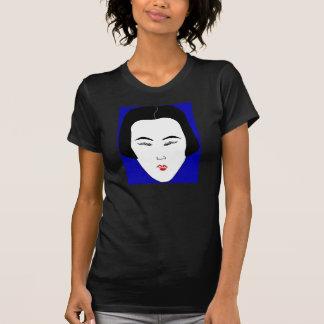 Fashions High End Oblong Shape Face Black I Tee Shirt
