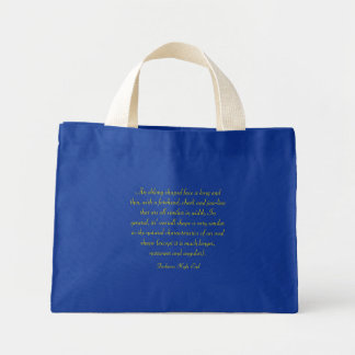 Fashions High End Oblong Shape Face Royal Blue Mini Tote Bag