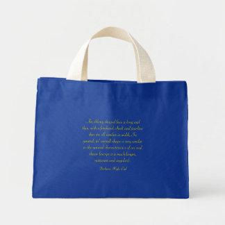 Fashions High End Oblong Shape Face Royal Blue Mini Tote Bag