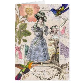 Fashions of Paris - Vintage Girly Elegance Card