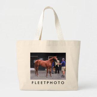 Fasig Tipton Select Sales at Saratoga Large Tote Bag