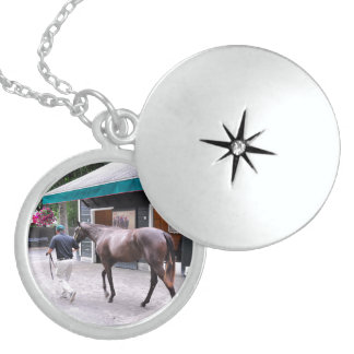 Fasig Tipton Select Sales at Saratoga Sterling Silver Necklace