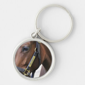 Fasig - Tipton Select Yearling Sales Silver-Colored Round Keychain