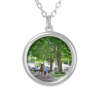 Fasig Tipton Yearling Sales Silver Plated Necklace