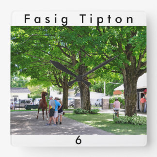 Fasig Tipton Yearling Sales Square Wall Clock