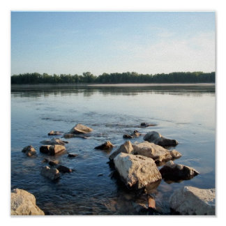 fast and clear water,Danube river Poster
