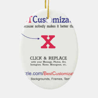 Fast and Easy Blank Template Ceramic Ornament