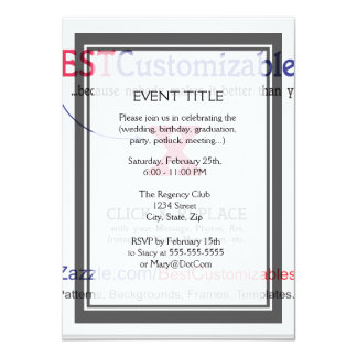 "Fast and Easy Blank Template 4.5"" X 6.25"" Invitation Card"