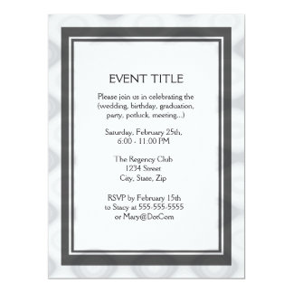 "Fast and Easy Blank Template 6.5"" X 8.75"" Invitation Card"