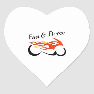 FAST AND FIERCE HEART STICKERS