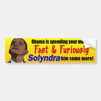 Fast and Furious Solyndra Obama Bumper Sticker