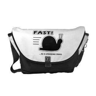 Fast as a speeding snail courier bag