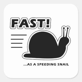 Fast as a speeding snail stickers
