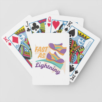 Fast As Lightning Bicycle Playing Cards