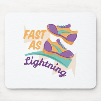 Fast As Lightning Mouse Pad