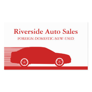 Fast Automobile Business Card Red