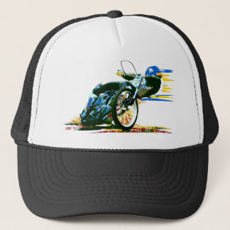 Fast Awesome Speedway Motorcycle Trucker Hat